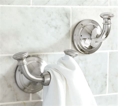 pottery barn hayden coat robe towel hook chrome nib with bath towel hook looks like horizontal hooks maybe would