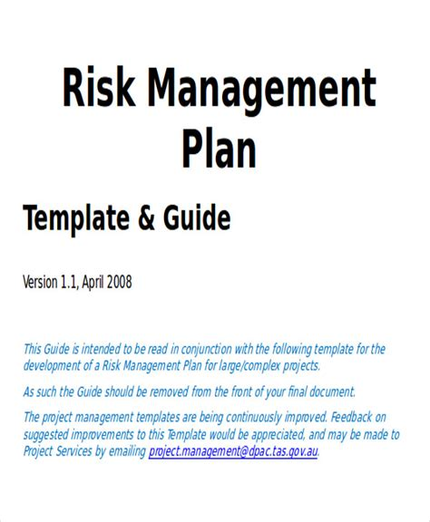 Risk Management Mba Project Pdf by 7 Sle Project Plan Template Word Sle Templates