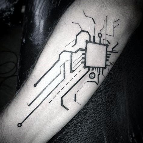 circuit tattoo 60 circuit board designs for electronic ink ideas
