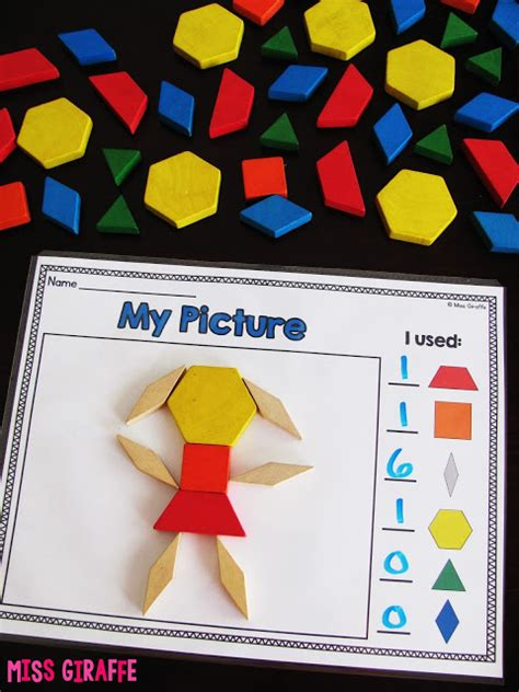 making patterns activities for kindergarten composing shapes in 1st grade pattern block pictures and