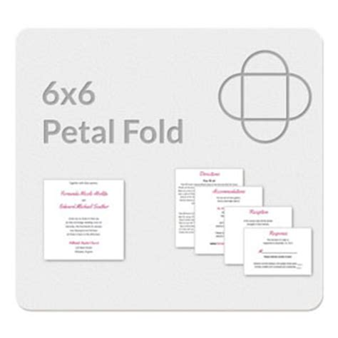 6x6 card template petal fold 6x6 invitation template
