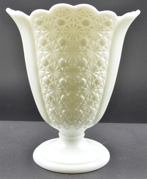 Fenton Vase by Fenton Glass Button Milk Glass Pattern 1900