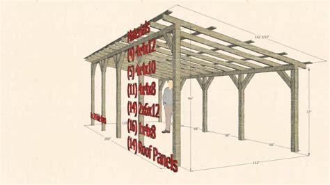 12x16 Carport Sketchup Design 10 X 24 Pole Barn Carport Shelter