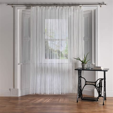 drawstring curtains cordon white premier fire retardant string curtain from