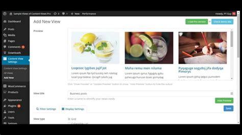 grid layout for posts wordpress wordpress grid plugin content views youtube