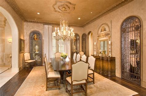 Mansion Dining Room by Stunning Mediterranean Mansion In Houston Tx Built By