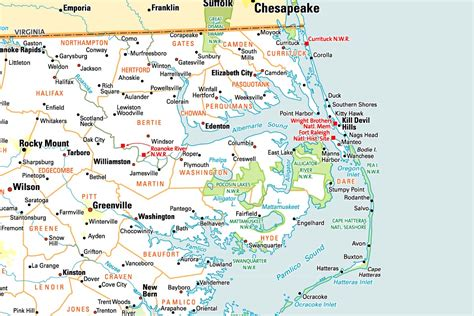 map of outer banks outer banker area information and photos