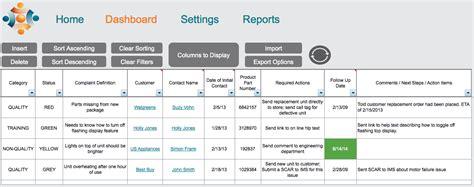 feedback tracker template customer complaint dashboard w5 templates