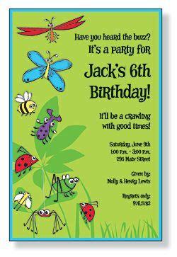 Free Bug Party Invitation Kids Birthday Invitations Girls Boys Boys Girls Sweet 16 Bug Invitation Template