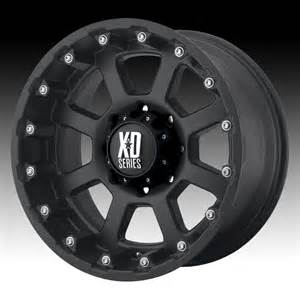Xd Wheels On Truck Kmc Xd Series Xd807 Strike Matte Black Custom Wheels Rims