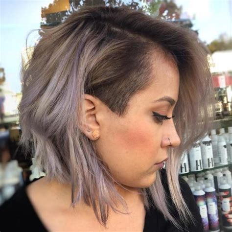 lob w shaved side 50 women s undercut hairstyles to make a real statement