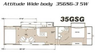 Eclipse Attitude Toy Hauler Floor Plans Attitude 5th Wheel Toy Haulers By Eclipse Rv