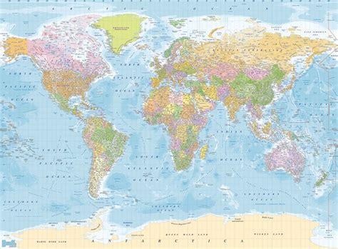 World Map Wall Murals papel de parede modelo mapa mundi 3 15 x 2 32 mts