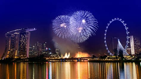 new year card singapore 幸福摩天轮夜间风景高清壁纸 风景壁纸 壁纸下载 美桌网