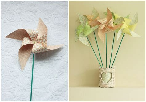 Handmade Windmill With Paper - diy tutorial paper windmills boho weddings for the boho