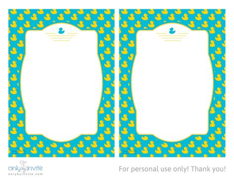 baby shower templates printable duck baby shower invitations template best template