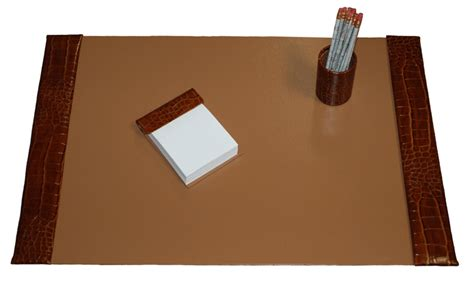 leather desk pads custom imprint deskpads leather desk