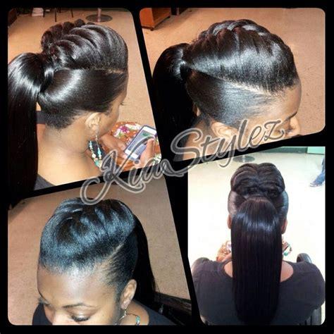 ponytail  braid detail  atkiastylez pony tails love   human hair extensions