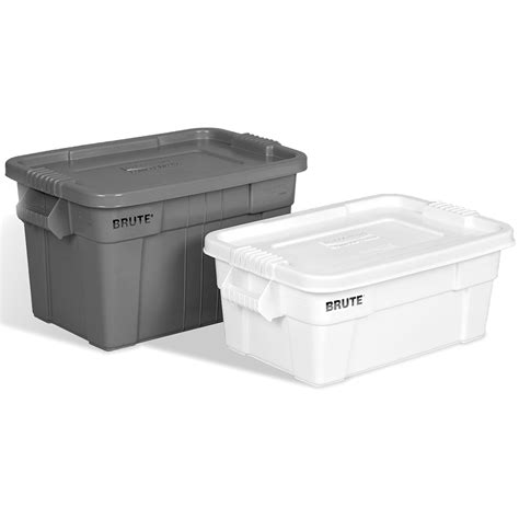 rubbermaid storage containers rubbermaid 174 brute 174 tote with lid u s plastic corp