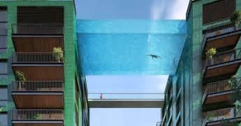 glass bottom pool world s first glass bottom sky pool will let you swim