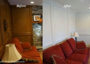 painting paneling before and after a crafty wife i finally painted our wood judges paneling