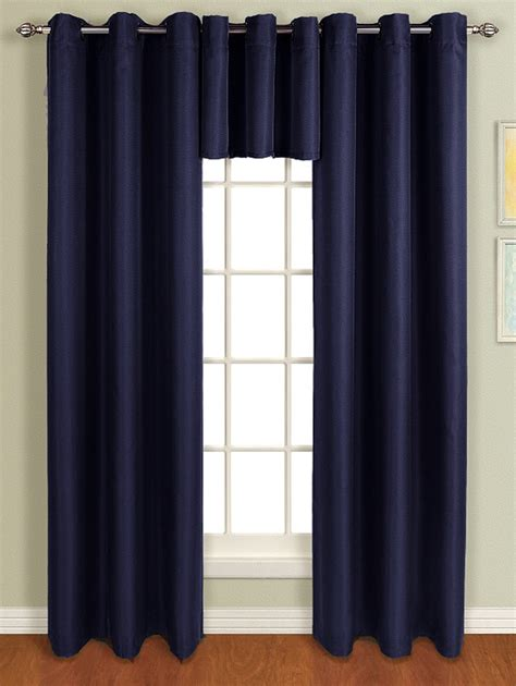 mansfield grommet top curtain navy united contemporary