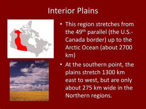 Interior Region by Ppt Canada S Landforms Powerpoint Presentation Id 339613