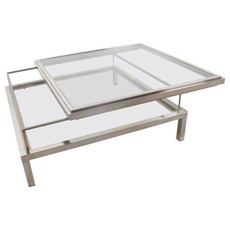 beautiful maison jansen sliding coffee table for