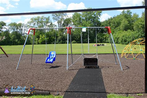 wheelchair swing downers grove playground with wheelchair swing kidlist