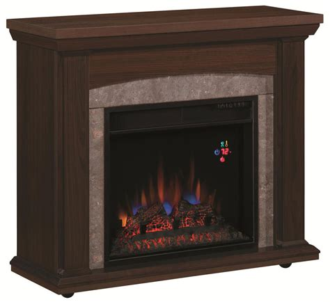 Rolling Fireplace by Espresso Rolling Fireplace Chesterfield Tv Stands