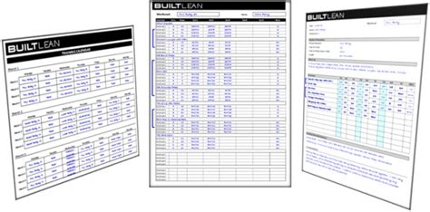weightlifting cards template free workout log template that s printable easy to use