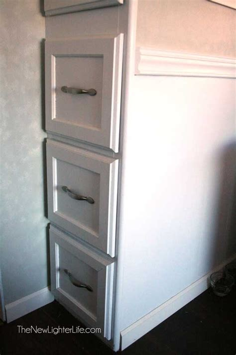 Easy Kitchen Cabinet Makeover how to paint rv cabinets without sanding or primer