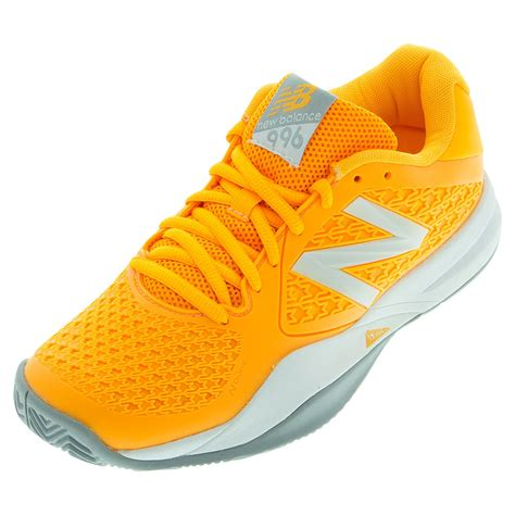 orange shoes new balance women s 996 v2 b width tennis shoes