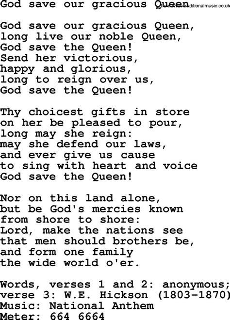 testo god save the 17 best ideas about god save the on