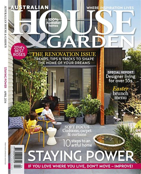 house magazine designs for living featured in australian house garden april designs for living