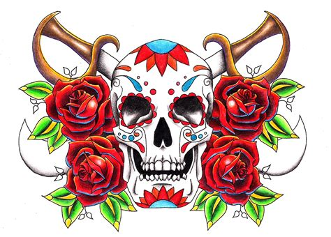 tattoo old school rose and skull 27 old school tattoos designs and ideas inspirationseek com