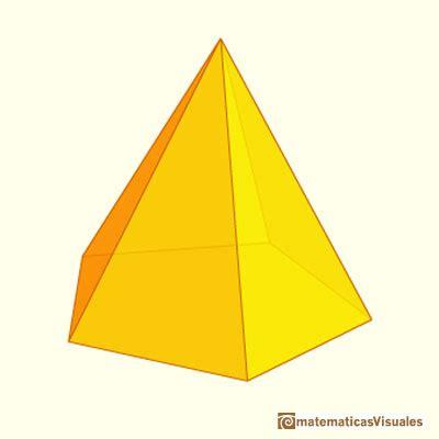 pirámide de base cuadrada matematicas visuales desarrollos planos de cuerpos