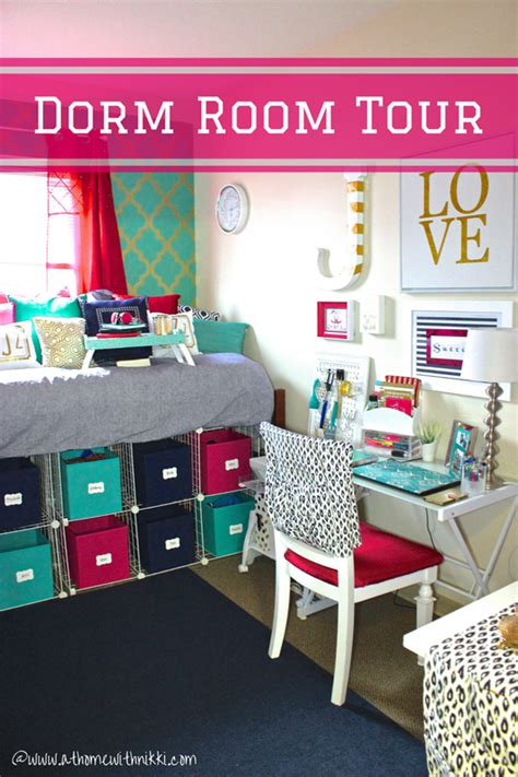 College Dorm Room Tour Organization At Home With Nikki College Desk Organization