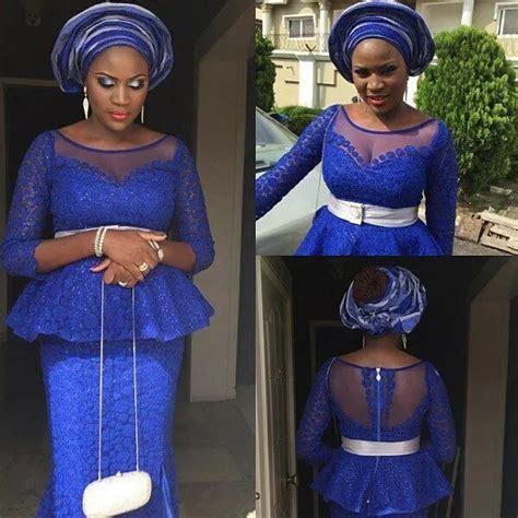 latest lace blouse in bella naija latest lace skirt and blouse styles 2017 naija ng