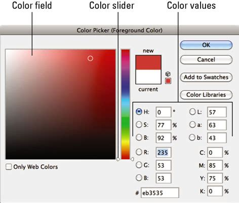 how to color photoshop how to use color picker in photoshop cs6 dummies