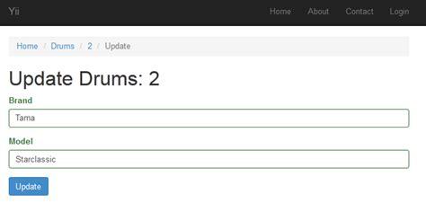 yii2 framework tutorial step by step super easy crud with gii and the yii2 framework web