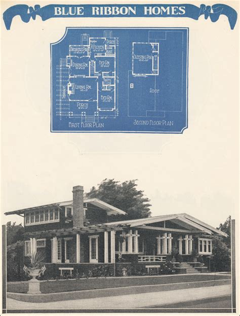 airplane bungalow house plans 1924 radford s blue ribbon homes airplane bungalow