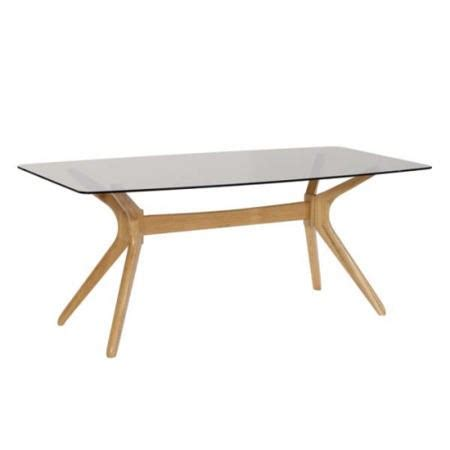 Oak Dining Table With Glass Top Lpd Portofino Solid Oak Rectangular Dining Table With Glass Top Furniture123