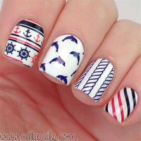 Nail Decals by Anchor Stripe Water Decals Nail Sickers Nail Water