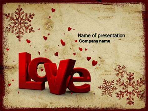 christmas love free powerpoint template backgrounds