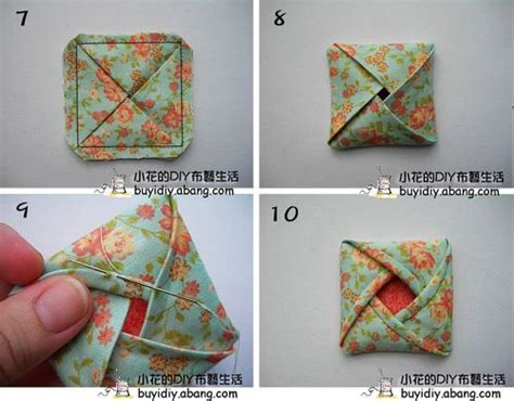 Fabric Origami - origami fabric flower patchwork flower