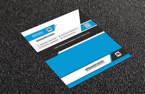 free clean corporate business card template
