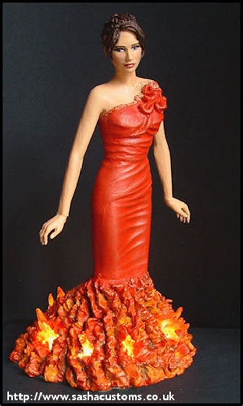 Glimmer Lights Sasha S Customs Red Dress Katniss Light Up
