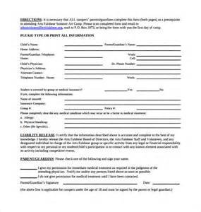 Liability Waiver Template by Release Of Liability Form Waiver Of Liability Template