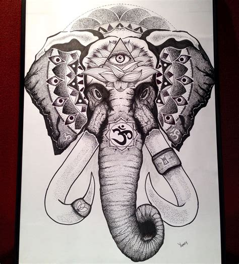 dotwork elephant tattoo indian elephant dotwork tattoo sketch pin pinterest